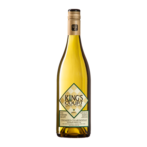 King's Court Estate Winery 2017 Unoaked Chardonnay