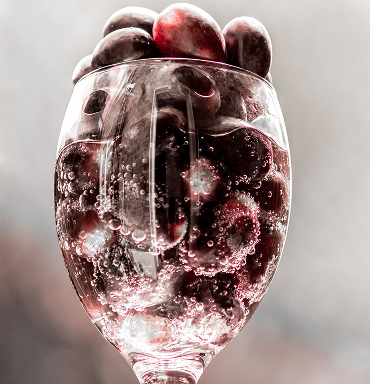 Icewine Grapes In A Glass