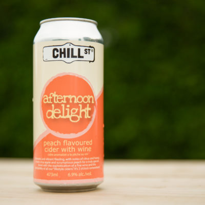 Chill Street Afternoon Delight Cider on a table